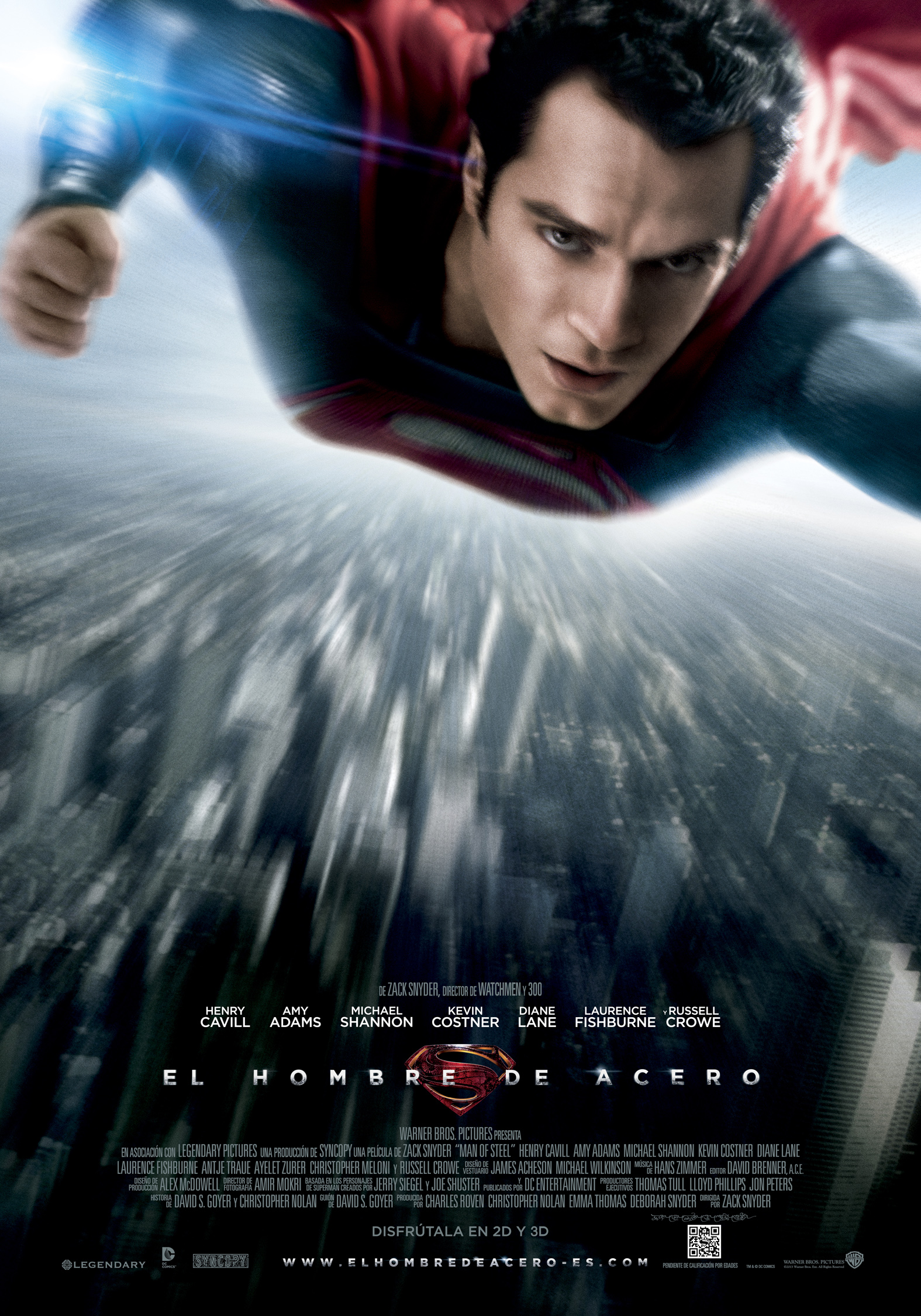 man of steel póster