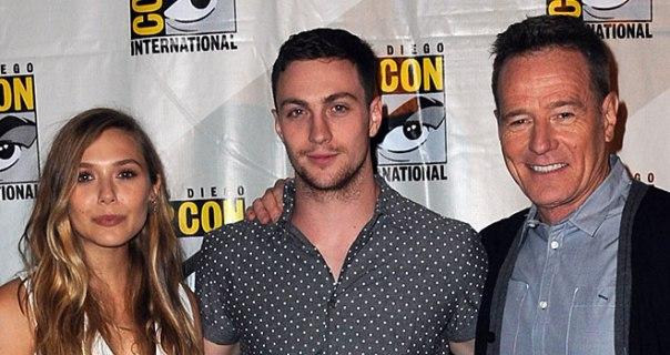Elizabeth Olsen, Aaron Taylor-Johnson y Bryan Cranston