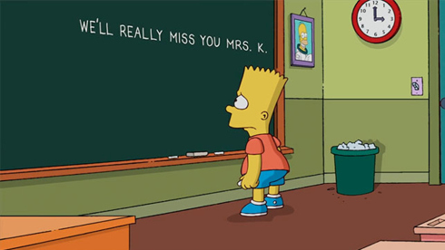 We'll really miss you Mrs. K