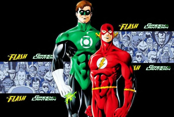 green lantern - flash